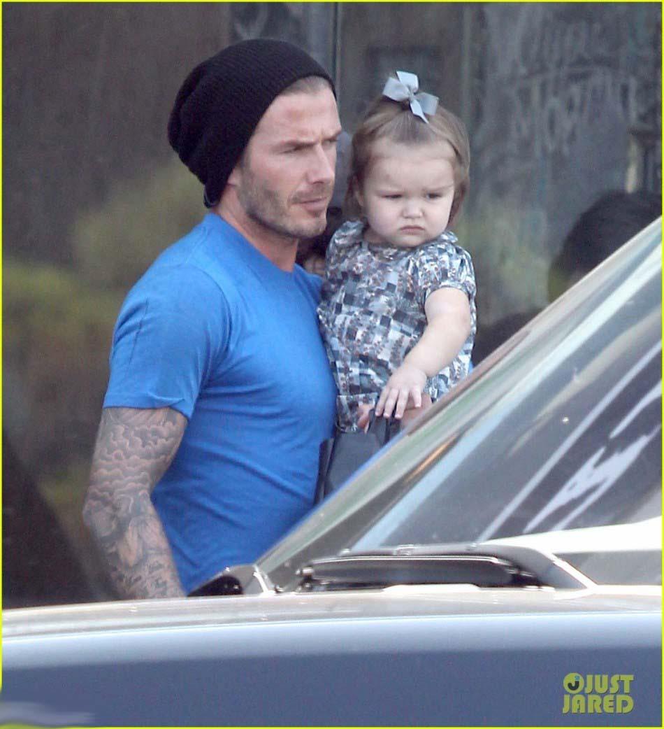 贝克汉姆太爱女�... David Beckham