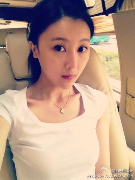 贾跃亭的妻子甘薇整容前后照片 甘薇老公贾跃亭家庭背景,微博图片