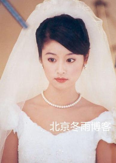 林心如的老公结婚照图片 林心如清纯婚纱照 林志颖林心如走红毯