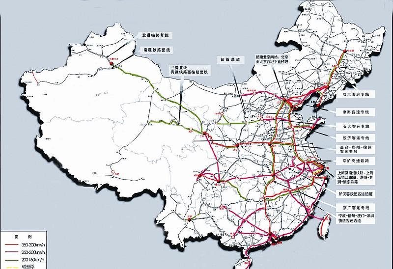 兰新高铁通车线路图,贵广高铁通车线路图,2014年高铁通车线路