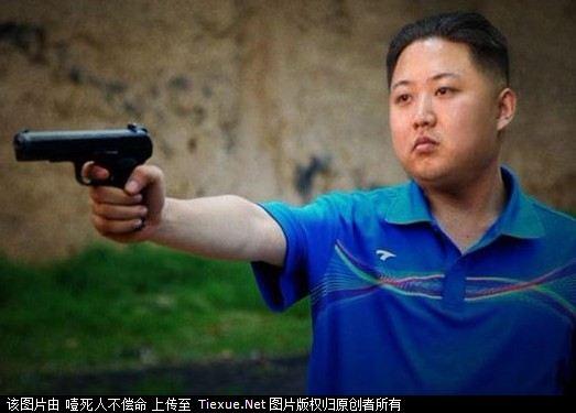 朝鲜金正恩骂美国照片