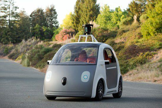 无人驾驶的汽车价格多少钱 谷歌无人驾驶汽车走出科幻高清图片
