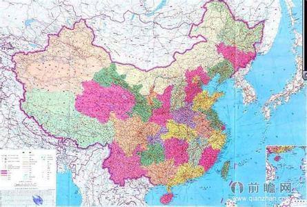 中国最新竖版地图 中国省份划分2014地图 中国
