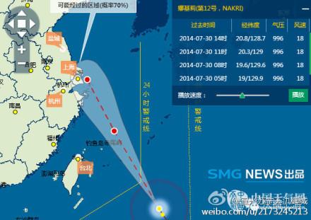 台风娜基莉的最新信息 台风夏浪和娜基莉发展