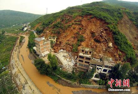 昭通市鲁甸龙头山洪灾,鲁甸龙头山山体滑坡图片