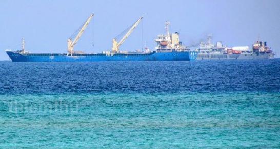 南沙群岛最新填海囹�a_南沙赤瓜礁填海进度照,赤瓜礁填海最新图