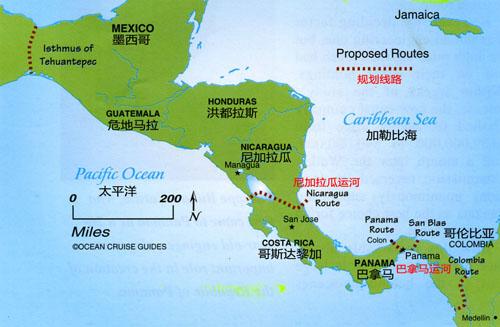 尼加拉瓜运河规划图,中国为什么与尼加拉瓜断