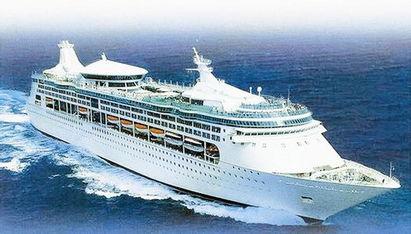 中国首艘国际豪华邮轮照片 中华泰山号上海—台湾航线