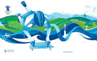 冬奥会滑雪简笔画 索契冬奥会 冬奥会滑雪儿童