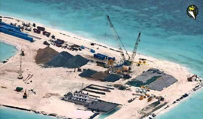 南沙群岛最新填海囹�a_南海紧张局势有降温迹象,外交部指中国在南沙群岛部分岛礁填海
