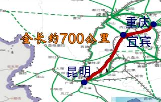 2015渝昆高铁最新消息以及最新规划 重庆至昆明高铁规划图图片