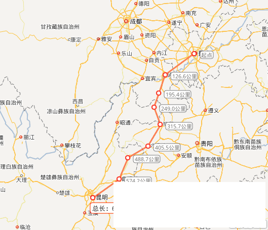 """渝昆高铁线路图,渝昆高铁和与其相连的郑渝铁路,以及京广客运专线北京、郑州段,组成了中国华北到西南的大通道,即京渝昆大通道。这条大通道,及与其相连的铁路线,贯穿中国的东北、华北、华中到西南,直至东南亚、南亚,是从东北亚黄海至南亚印度洋水域的最佳大陆桥。   全国政协委员陈雅棠认为:渝昆铁路""""假如建成,比现在经贵州前往昆明,里程差不多缩短1/3。""""根据重庆市2020年形成""""一环十射一联线""""的铁路网络规划,届时重庆将成为全国第五大铁路枢纽。渝昆铁路的建成,将为重庆"""