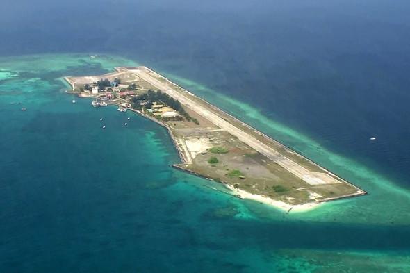 南沙群岛最新填海囹�a_共在南沙岛礁填海造陆8万平方米!