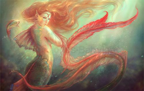 十二星座童话美人鱼图片,十二星座的传说美人鱼样子(2