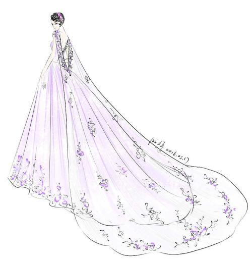 十二星座的婚纱怎么画,十二星座的婚纱手绘图片大全