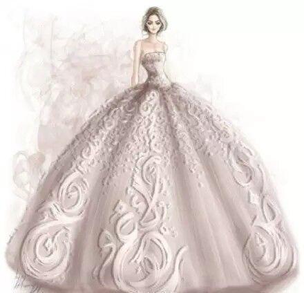 狮子座唯美婚纱手绘图片
