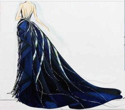 天蝎座唯美婚纱手绘图片