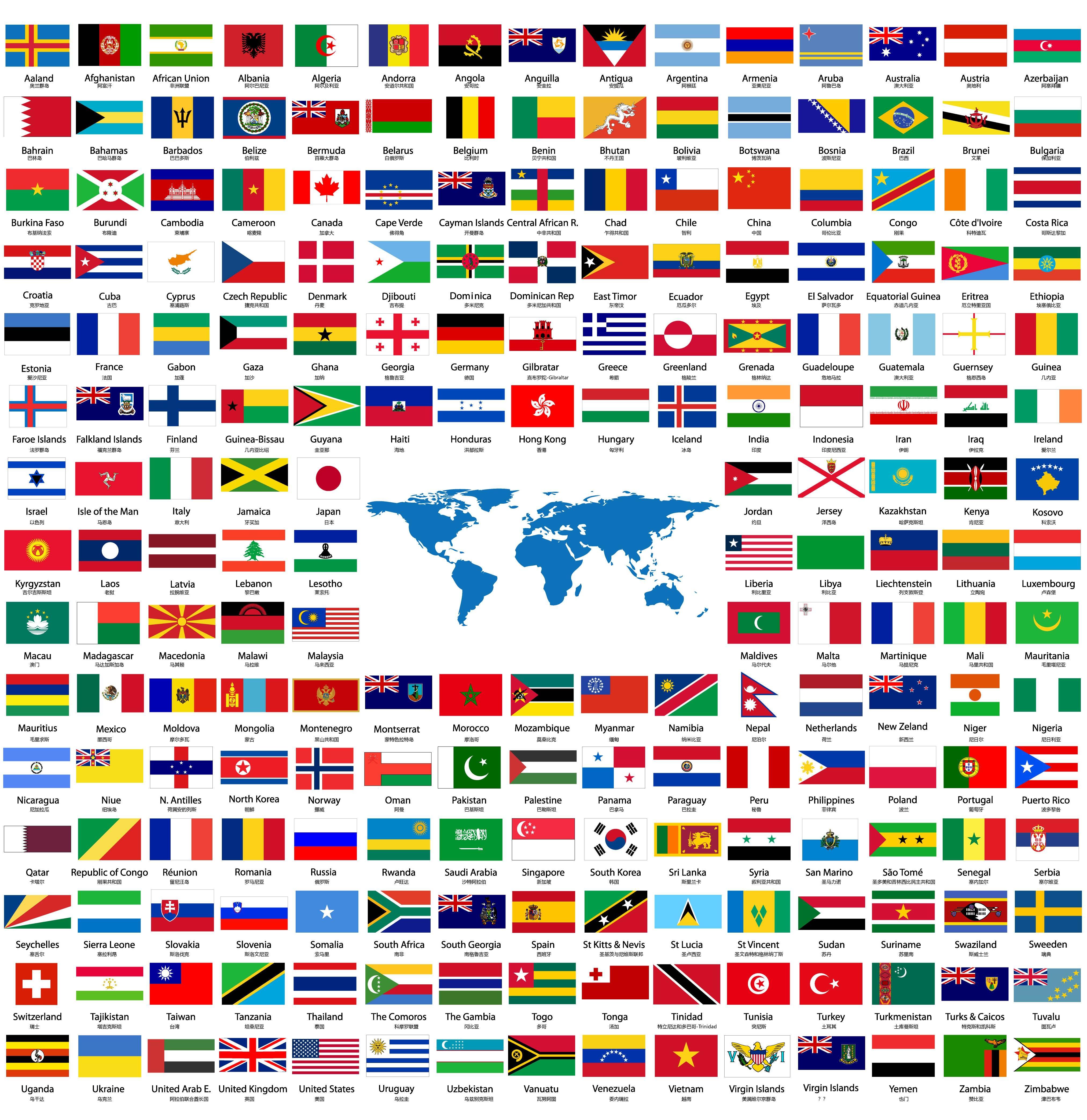 外国国旗_哪些国家国旗上有紫色?