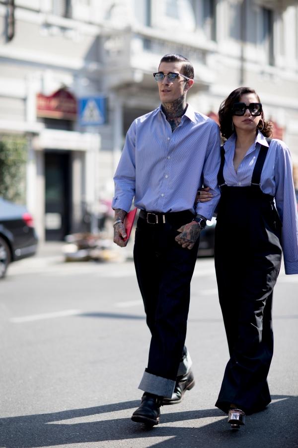 浅蓝色衬衫配什么裤子好看怎么搭配图片 教你穿出高街风