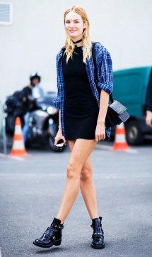女蓝色格子衬衫搭配_粉色上衣怎么搭配下身配裙子图片 夏天需要一点元气粉色_天涯 ...