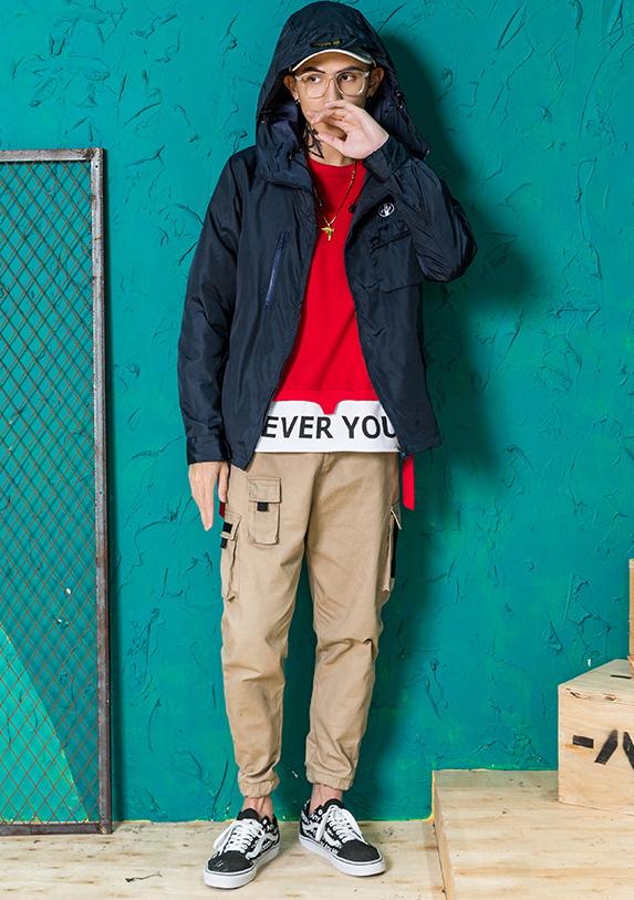 红色卫衣配什么裤子好看搭配图男 红色卫衣这样搭配时尚有型