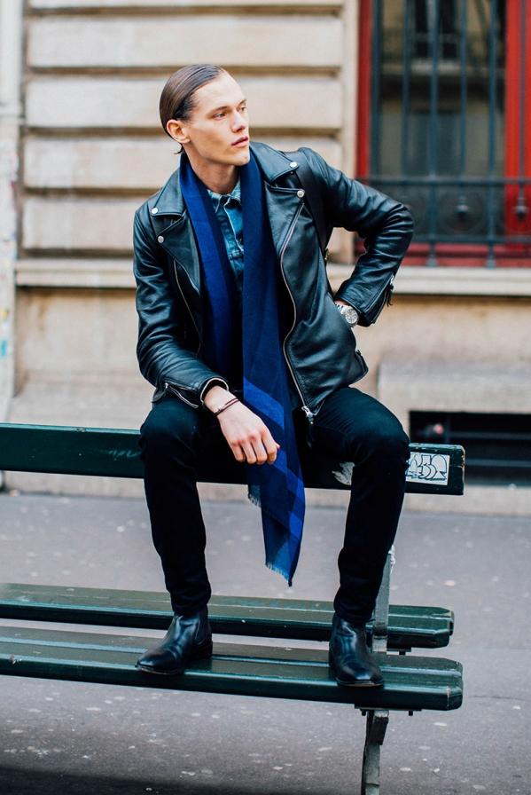 机车皮衣搭配图片男配什么裤子和鞋 秋冬变身帅气型男