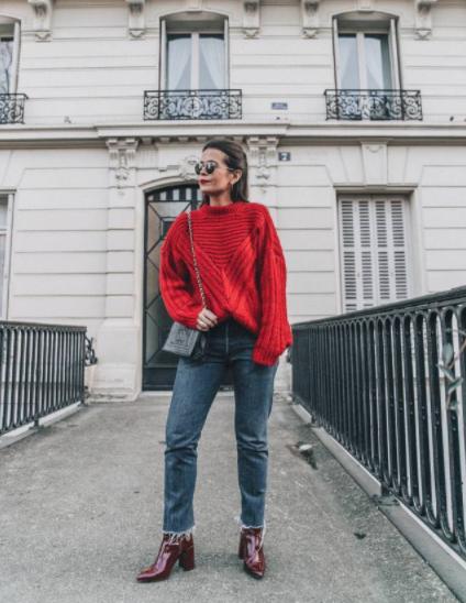 酒红色鞋子怎么搭配衣服好看图片 时尚显气质却又不张扬