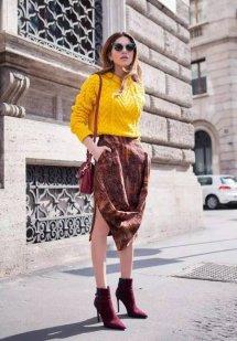 酒红色短靴冬季搭配图片配什么衣服 尽显深邃而优雅的魅力