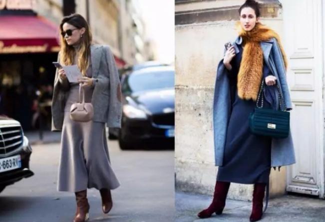 针织长裙配什么上衣好看冬天怎么搭配 穿针织裙更有女人味