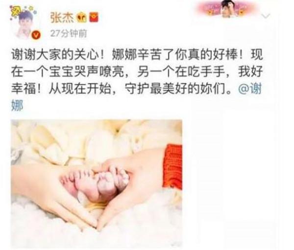 张杰谢娜女儿现在照片曝光 软萌的小公主简直是萌化了