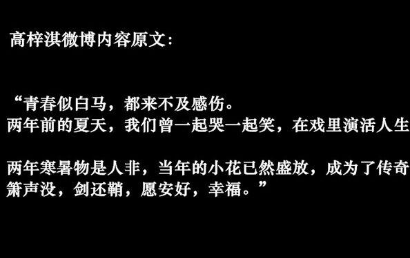 赵丽颖承认过高梓淇吗为什么分手 高梓淇感慨赵丽颖怎么评价她的