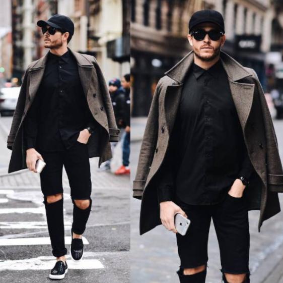 黑色开衫搭配男_黑色衬衫搭配什么裤子男 黑色衬衫这样搭配穿起来有点酷_天涯 ...