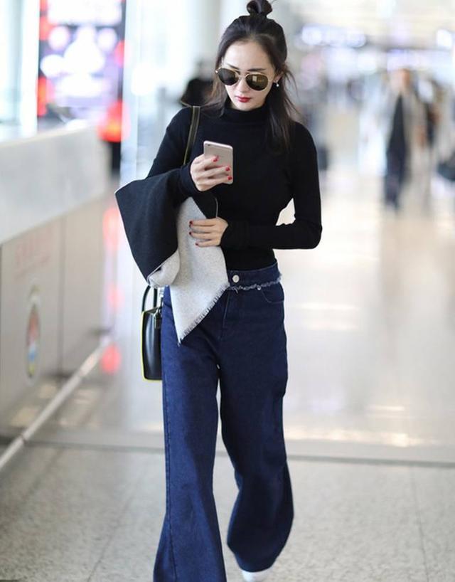 阔腿裤配什么上衣才能脱颖而出?看到宋茜这样穿你害怕吗?