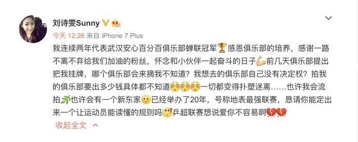 刘诗雯为何叫小枣家境是富二代吗和张怡宁恩怨?刘诗雯揭国乒乱象